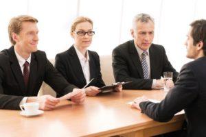 Job interview panel image